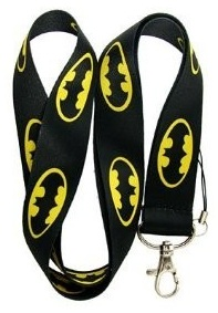 Batman Logo Lanyard / Neck Strip with Carabiner Clip