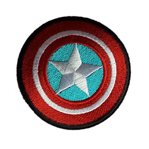 Captain America Super Hero Iron / Sew On Embroidered Patch