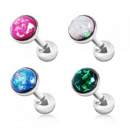 Opal Dome Top Cartilage Bar