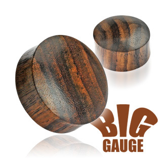 Organic Brown wood Saddle Ear Stretcher Plug
