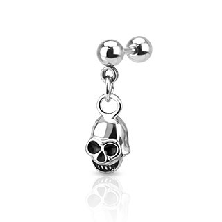 Skull Dangle Cartilage Bar