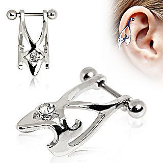 Surgical Steel Hawk Cartilage Earring