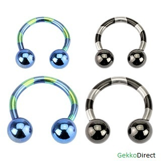 Titanium Anodised Plated Duo-Tone Horseshoe